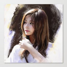 Portrait of Tzuyu Canvas Print