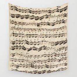Johann Sebastian Bach (1685 – 1750) original music sheet Wall Tapestry