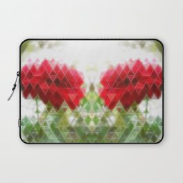 Red Rose with Light 1 Art Triangles 2 Laptop Sleeve