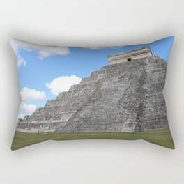 Chichen Itza Temple of Kukulcan south-west View Rectangular Pillow