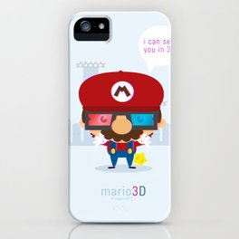 mario 3d iPhone Case