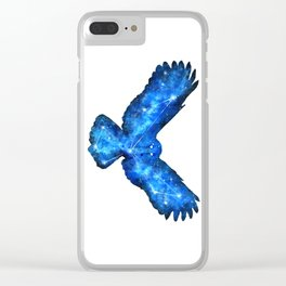 Space Owl | Double Exposure Owl | Owl Constellation | Cosmic Owl Clear iPhone Case