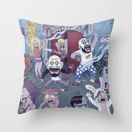 Captain Spaulding's Happy Family Throw Pillow