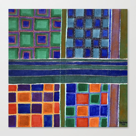 Four Squares Check Pattern Canvas Print