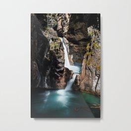 Johnston Canyon Lower Falls Metal Print