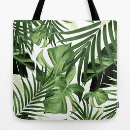 Tropical Jungle Leaves Pattern #12 #tropical #decor #art #society6 Tote Bag