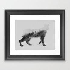 The Lynx (black & white version) Framed Art Print