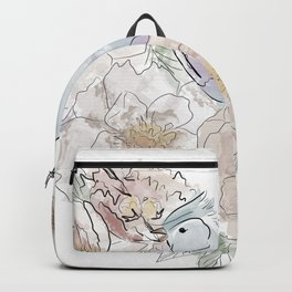 bird of paradise , paradisebirds , simple floral graphic design , gift for gardener Backpack