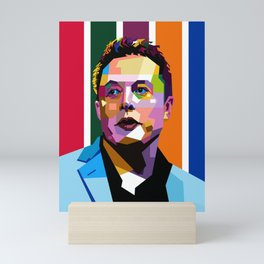 Elon Musk Smoking Mini Art Print