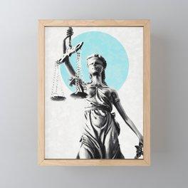 Lady of justice Framed Mini Art Print