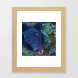 In the Violets Framed Art Print
