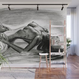 Passion in Black and White Wall Mural