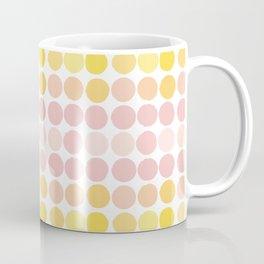 Pink & Yellow Circles Coffee Mug