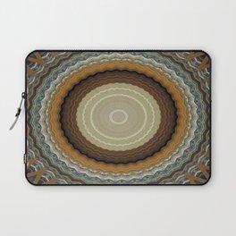 Blue kaleidoscope design Laptop Sleeve