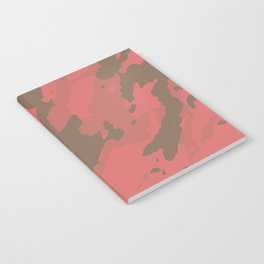 Living Coral Marble Abstract Pattern Notebook