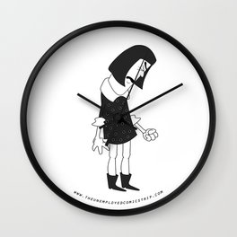 The Unemployed - Vivienne Wall Clock