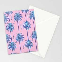 midcentury palm trees Stationery Cards