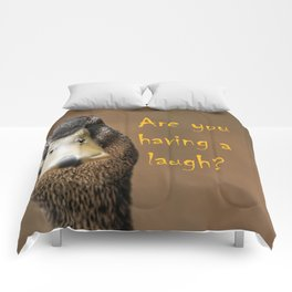 A funny duck Comforters