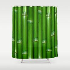 GREEN BAMBOO Shower Curtain