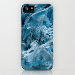 Blue Ice Glacier in Norway - Landscape Photography iPhone Case