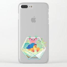 Ocean terrarium - Boxer crab, hermit crab Clear iPhone Case