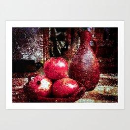 Pomegranates And A Pitcher Art Print