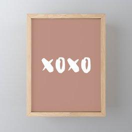 xoxo hugs and kisses Framed Mini Art Print