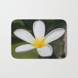 A Single Plumeria Flower Macro  Bath Mat