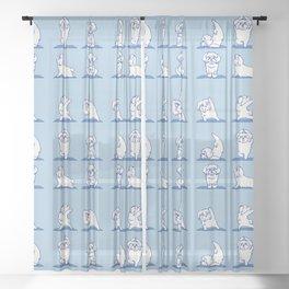 Maltese Yoga Sheer Curtain