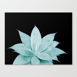 Green Agave on Black #2 #tropical #decor #art #society6 Canvas Print
