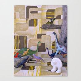 Au temps de la Préhistoire Canvas Print