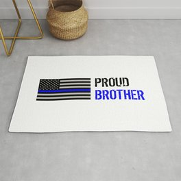 Police: Proud Brother (Thin Blue Line) Rug
