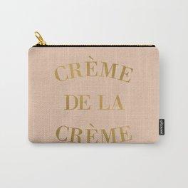 Creme de la Creme Gold Pink Art Print Carry-All Pouch