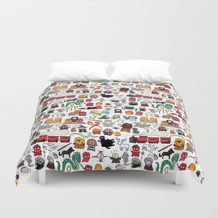 Kawaii Harry Potter Doodle Duvet Cover By Kirakiradoodles