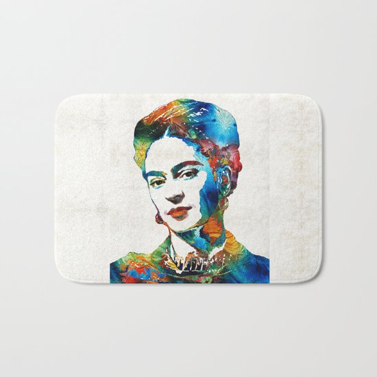 Frida Kahlo Art - Viva La Frida - By Sharon Cummings Bath Mat