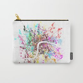 London map splash Carry-All Pouch