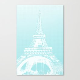 Eiffel tower by dots Canvas Print