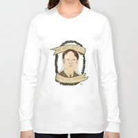 dwight schrute Long Sleeve T-shirts featuring Dwight Schrute by Rhian Davie