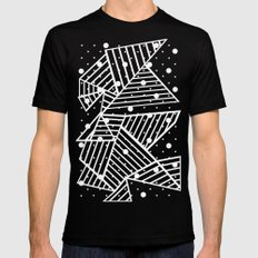 Abstraction Spots Close Up Black Black MEDIUM Mens Fitted Tee