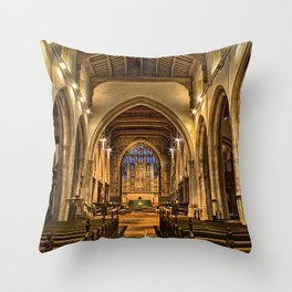 All Saints Maidstone Throw Pillow