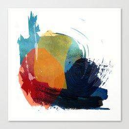 blue motion Canvas Print