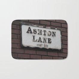 Ashton Lane, West End, Glasgow Bath Mat