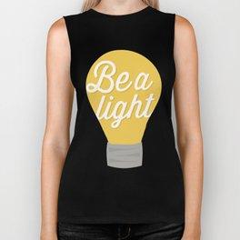 Be a light to the world Biker Tank
