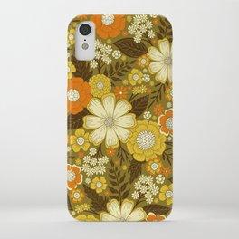 1970s Retro/Vintage Floral Pattern iPhone Case
