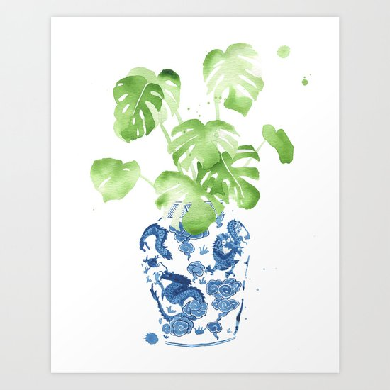 Ginger Jar + Monstera by theaestate