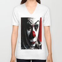 pennywise V-neck T-shirts featuring Pennywise by Alycia Plank