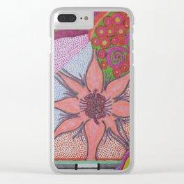 Flower Burst Clear iPhone Case