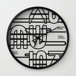 Plain Pessimism Wall Clock