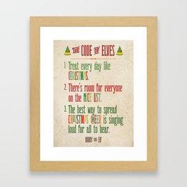 Buddy the Elf! The Code of Elves Framed Art Print