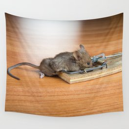 Dead Mouse in Trap Wall Tapestry